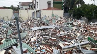 Dãy nhà trọ đã bị cưỡng chế phá dỡ.