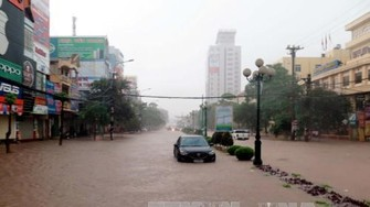 Flood in Thai Nguyen province on June 23 (Photo: VNA)