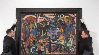 Max Beckmann's Bird's Hell (1938). - Photo Courtesy of Christie