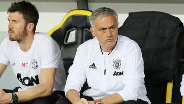 HLV Jose Mourinho vẫn thận trọng bất chấp đà tiến của Man.United. Ảnh: Getty Images