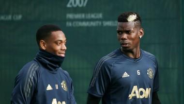 Paul Pogba (phải) và Anthony Martial là 2 trong số những ngôi sao gặp vấn đề về thể trạng. Ảnh: Getty Images