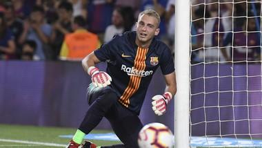 Thủ thành tuyển Đan Mạch Jasper Cillessentrong màu áo Barca.
