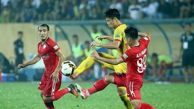 CLB TPHCM đã giành chiến thắng ấn tượng trên sân Thiên Trường ở lượt đi. Ảnh: MINH HOÀNG