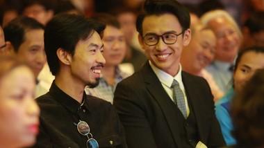 """rapper """"quốc dân"""" Đen Vâu  tại lễ công bố cuộc thi. Ảnh: Anh Trần"""