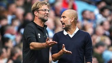 """HLV Jurgen Klopp và Pep Guardiola sẽ tái lập màn """"đấu tay đôi""""? Ảnh: Getty Images"""