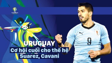 Luis Suarez và thế hệ vàng của Uruguay chỉ còn cơ hội cuối để đoạt Cúp vàng Copa America. Infographic: HỮU VI