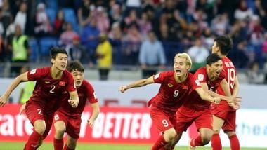 Niềm vui chiến thắng của tuyển Việt Nam
