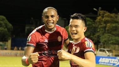 CLB TPHCM bất ngờ có chiến thắng 2-1 trong trận lượt đi. Ảnh: Minh Hoàng