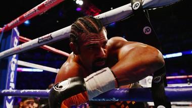 David Haye trong trận thua knock-out kỹ thuật trước Tony Bellew hồi tháng 3