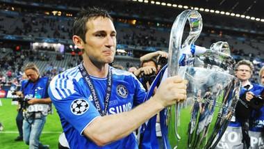 Frank Lampard và khoảnh khắc đăng quang Champions League cuối cùng của một đội bóng Anh. Ảnh: Getty Images