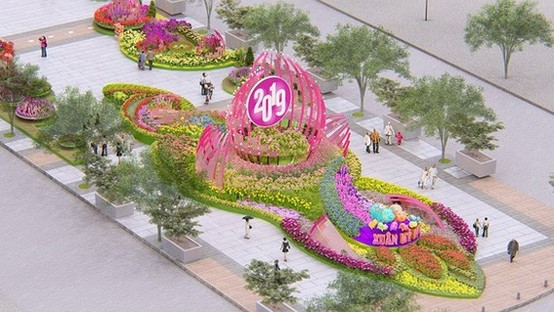 An artist's impression of Nguyen Hue flower street for the coming Tet holiday