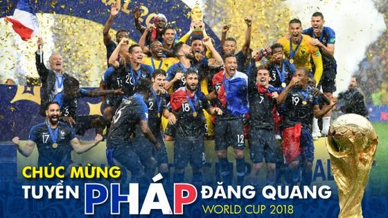 Món quà tặng bạn đọc: Tuyển Pháp đăng quang World Cup 2018