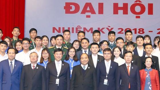 Thủ tướng Nguyễn Xuân Phúc dự Đại hội đại biểu toàn quốc  Hội Sinh viên Việt Nam lần thứ 10. Ảnh: TTXVN