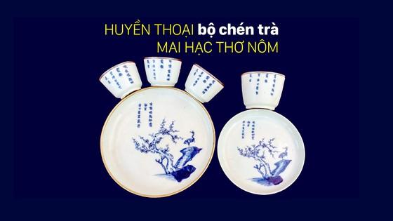Huyền thoại bộ chén trà Mai Hạc thơ Nôm