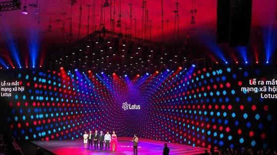 The launching ceremony of social network Lotus in Hanoi on September 16 (Photo: VNA)