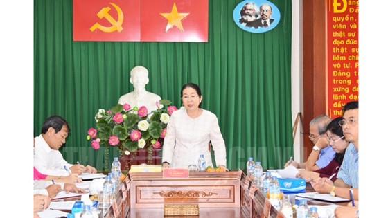 Phó Bí thư Thành ủy TPHCM Võ Thị Dung phát biểu kết luận buổi làm viêc. Ảnh: hcmcpv