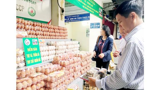 Thực phẩm có thông tin truy xuất nguồn gốc được kinh doanh tại chợ Bến Thành, quận 1, TPHCM