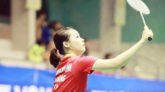 Tay vợt trẻ Nguyễn Thùy Linh.              Ảnh: T.L