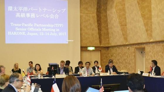 圖為來自11國TPP首席談判代表會議。(圖源:The Yomiuri Shimbun)