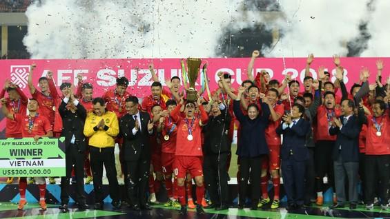 Đội tuyển Việt Nam lên ngôi vô địch ở AFF Cup 2018.