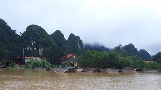 Lũ lên tại Xã Tân Hóa, huyện Minh Hóa