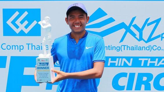 Lý Hoàng Nam đã vô địch đơn nam tại Thái Lan. Nguồn: tư liệu