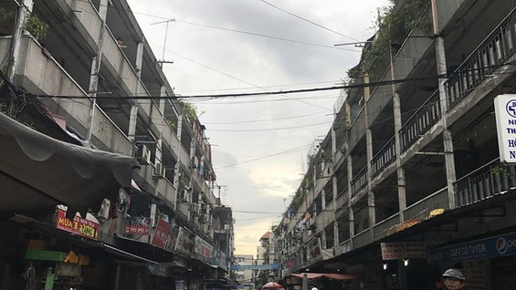 Chung cư Nguyễn Thiện Thuật, Q.3, nằm trong kế hoạch sửa chữa, cải tạo của quận