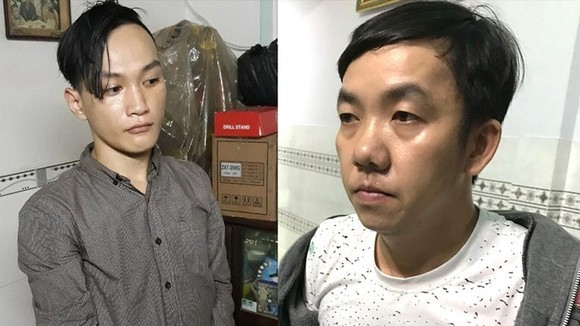 被逮捕的2名嫌犯陳玉德(左)和朱強。(圖源:公安機關提供)