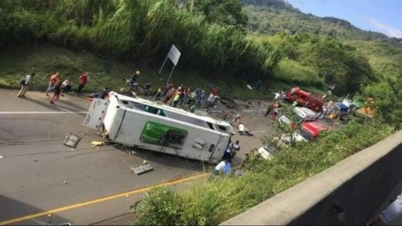 Hiện trường vụ tai nạn. Nguồn: ELHERALDO.CO