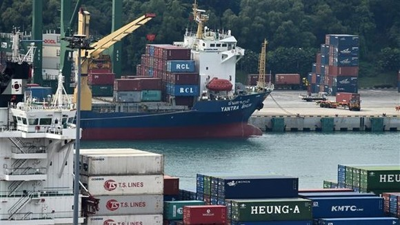 Tanjong Pagar Terminal of Singapore (Photo: AFP/VNA)