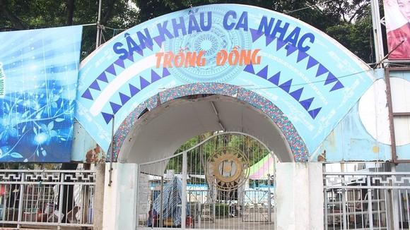 Sân khấu Trống Đồng - một trong những nơi được dự định xây dựng bãi xe ngầm của TP.HCM.
