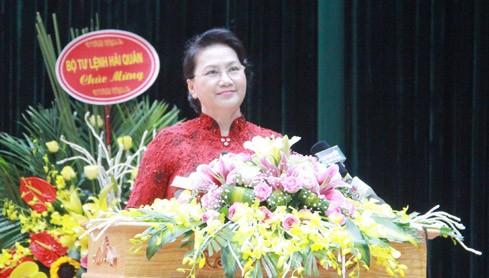 Chủ tịch Quốc hội Nguyễn Thị Kim Ngân phát biểu tại lễ kỷ niệm