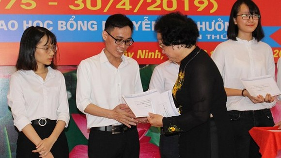 Former Minister of Health Tran Thi Trung Chien at the ceremony (Photo: SGGP)