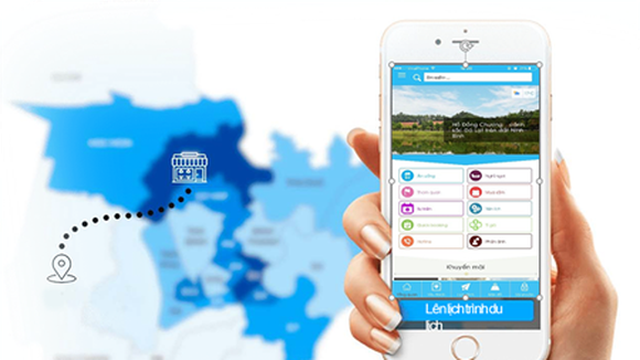 The app Smart Tourism on smartphones