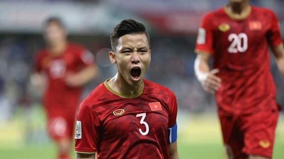 The Vietnamese national football team's captain Que Ngoc Hai (Photo: VNA)