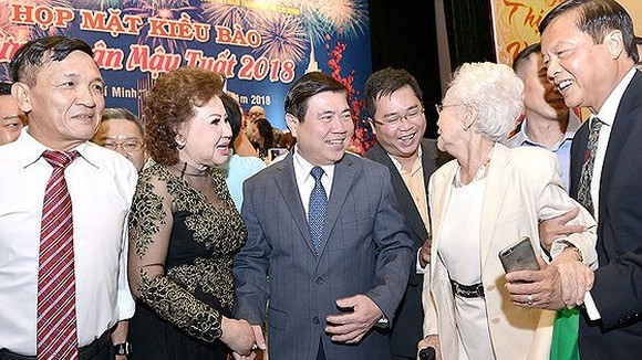 Meeting welcoming the Lunar New Year between overseas Vietnamese is an annual activity of Ho Chi Minh City (Photo:Viet Dung)