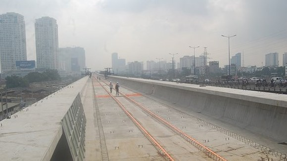The construction site of Ben Thanh-Suoi Tien metro line