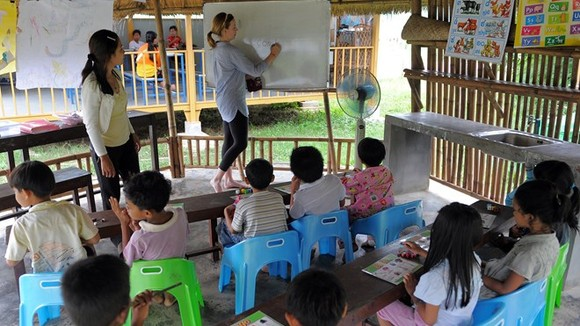 A class in Siem Reap province, Cambodia(Photo: AFP/VNA)