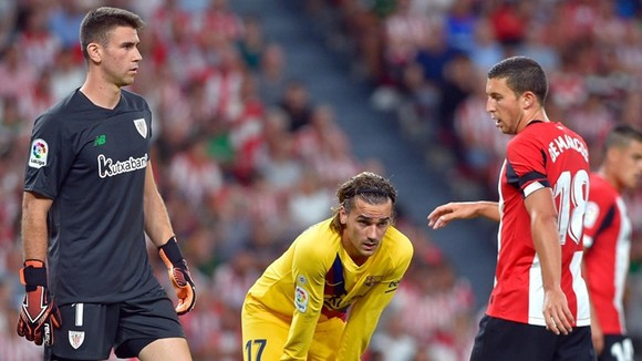Antoine Griezmann đã có màn ra mắt tồi tệ cùng Barca. Ảnh: Getty Images