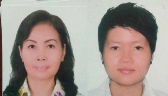 Phạm Thị Thiên Hà (phải) và mẹ là bà Trịnh Thị Hồng Hoa.