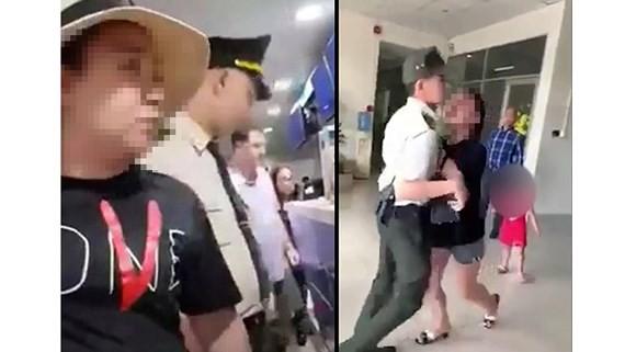 Đại úy Lê Thị Hiền (ảnh cắt từ clip)