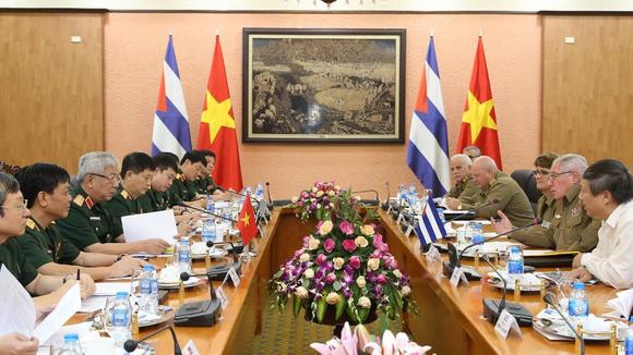 Quang cảnh buổi Đối thoại Chính sách Quốc phòng Việt Nam - Cuba lần thứ 3. Ảnh: Dương Giang/TTXVN
