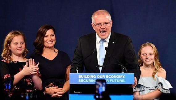 Liên minh cầm quyền Australia thắng cử