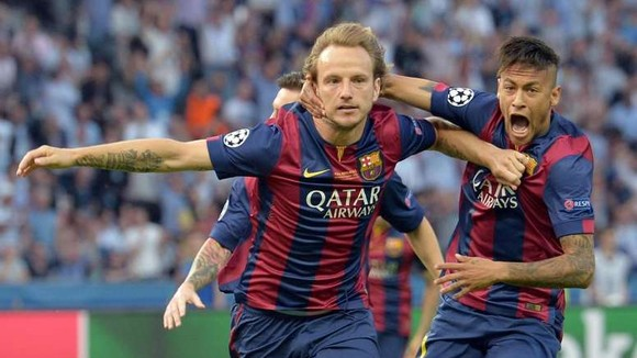 Ivasn Rakitic và Neymar ở Barca.