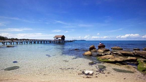 柬埔寨西哈努克城的美麗海灘
