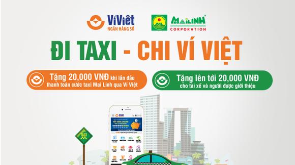 LienVietPostBank tặng thưởng khách hàng khi đi taxi Mai Linh