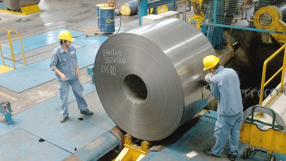 Steel production at a Vietnamese company. (Photo: SGGP)
