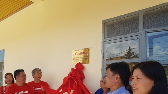 At the inauguration ceremony  of the kindergarten