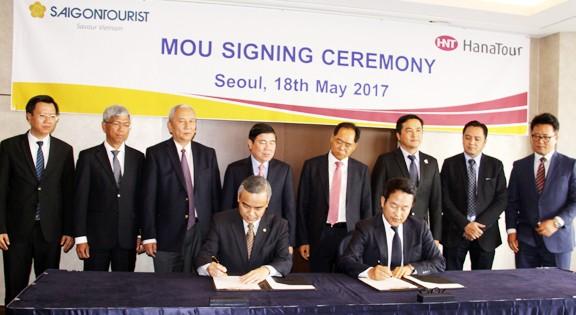 Saigontourist ký bản hợp tác phát triển du lịch với Tập đoàn Hanatour.
