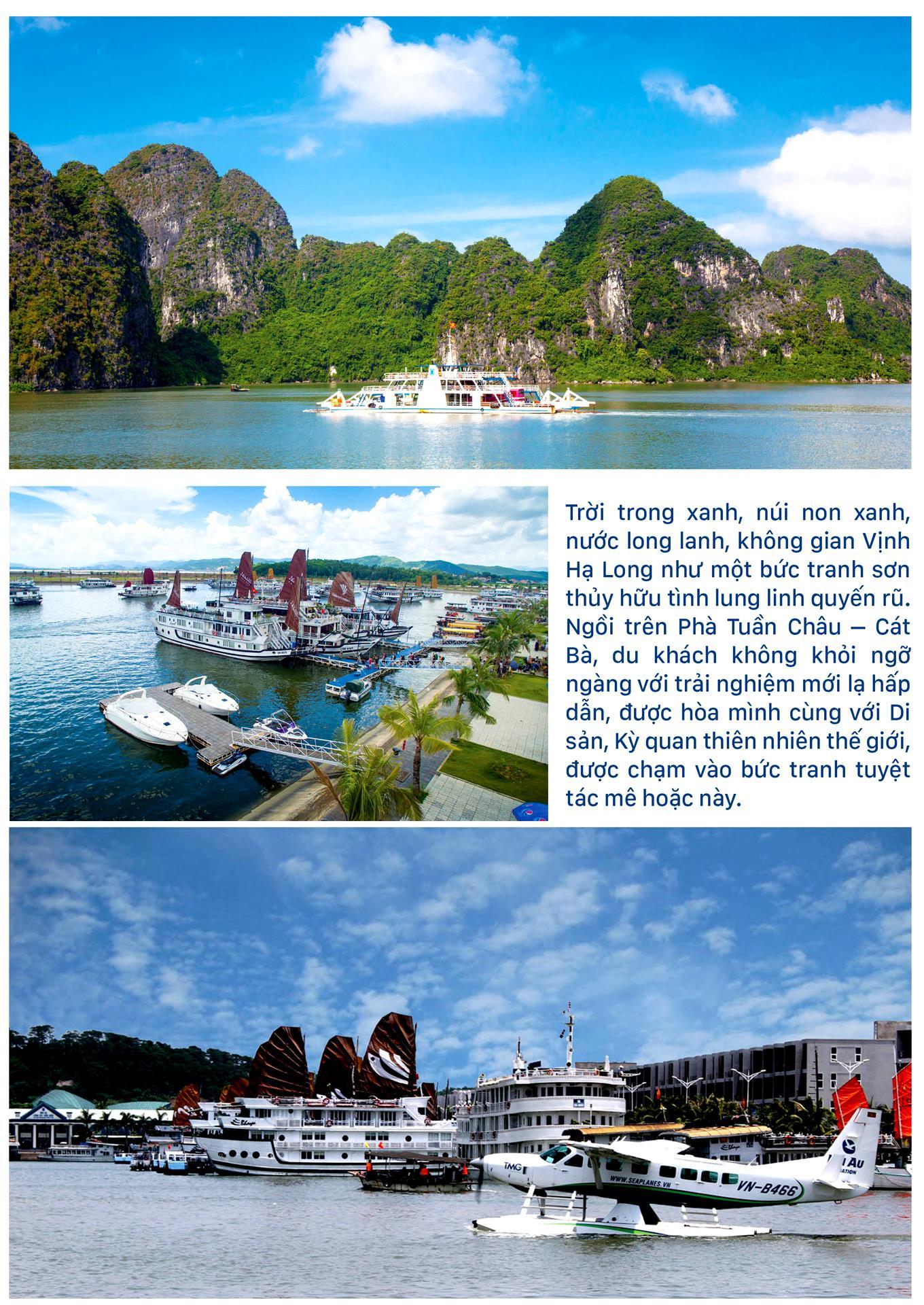 Ngắm Kỳ quan  Vịnh Hạ Long lãng mạn  từ Phà Tuần Châu ảnh 2
